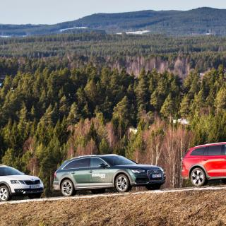 Skoda Octavia Scout, Audi A4 Allroad & Volvo V60 Cross Country.