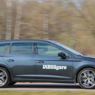 Seat Leon, här som kombin ST, är i stort sett en VW Golf fast till lägre pris.