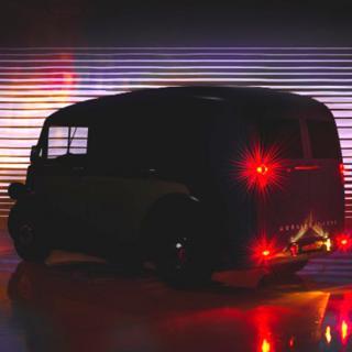 Elektrisk budbil med retrovibbar