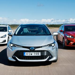 Ljustest: Toyota Corolla, Kia Ceed, Hyundai i30 (2019)