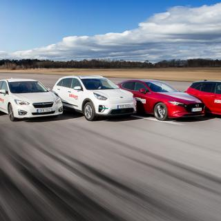 Test: Kia e-Niro, Mazda 3, Subaru Impreza, Toyota Corolla, Volkswagen Golf (2019)