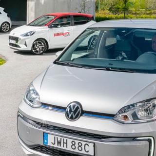 Se nya Volkswagen Up i rörelse