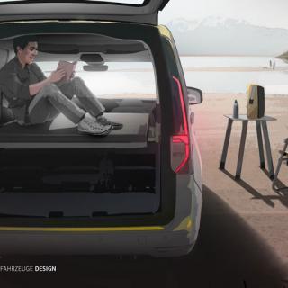 Volkswagen Caddy California är en ny minihusbil med utfällbart kök