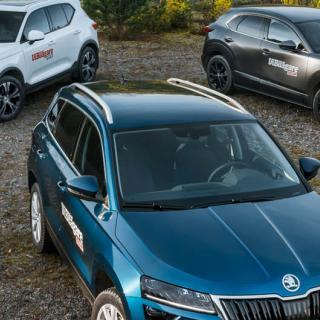 Ljustest: Mazda CX-30, Skoda Karoq och Volvo XC40 (2020)