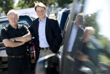 Richard Dahlin, mångårig återförsäljare och Peo Nilsson, nytillträdd vd, tror på Suzukis nya organisation, med holländska distributörer.