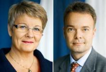 Näringsminister Maud Olofsson (c) och arbetsmarknadsminister Sven Otto Littorin (m) slår fast att inget krispaket är aktuellt för fordonsindustrin.  Foto: Pawel Flato