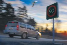 Variabla hastighetsskyltar framgångsrika