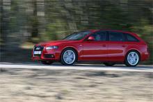 Audi A4 Avant är en kompakt kombi som ändå vuxit på längden jämfört med sin föregångare. Provbilen råkar vara utrustad med så kallat S-linepaket, som bland annat innefattar lägre och hårdare fjädring, samt fyrhjulsdrift.