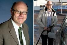 Anders Mathiasson (till vänster), VD Svenska Gasföreningen, blir intervjuad av Vi Bilägares Tommy Wahlström (till höger).