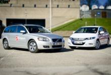 Honda Insight vs V50 Drive - hybridbil eller snåldiesel?