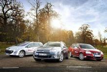 Etanolmotorer i Citroen C5,VW Golf och Peugeot 306.