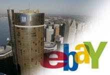 GM planerar att sälja bilar på auktionssajten Ebay.