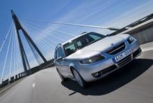 Saab 9-5 Biopower, en av de mest sålda miljöbilarna i Sverige.