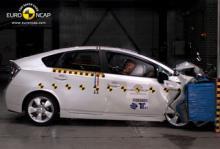 Toyota Prius fick bra betyg av Euro Ncap.