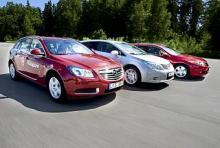 Honda Accord mot Opel Insignia och Toyota Avensis