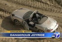 Störtade 22 meter med pappas Porsche
