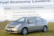 Toyota Prius är den just nu mest bränsleeffektiva bilmodellen, enligt Environmental Protection Agency.