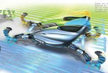 <p><b>Toyota - LINK:</b><br/> Toyotas framtidsidé är inspirerat av kollektivtrafik och går ut på att förare hämtar upp fordon vid olika platser för att sedan kopplas upp i ett transportnätverk. Där kan man förutom att just transportera sig kan kommunicera och dela med sig av sin musik. <br/><br/> Bilen är tillverkad med ny elektrofiberteknik som möjliggör en personlig exteriör design. Hjulen är i sin tur tillverkade av ett elektriskt ledande material som omvandlar friktion till energi och laddar upp bilens batterier.</p>