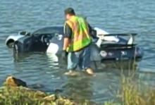 Bugatti Veyron går inte på vatten