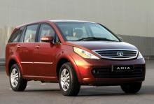 """Tata Aria, en dyrare bil från tillverkaren av """"världens billigaste bil""""."""