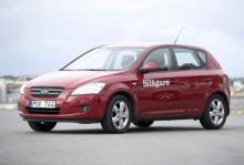 Kia Cee'd, den femte mest sålda bilen i Sverige under 2009.