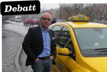 Frederick Scholander, marknadschef på Taxi 020, stödjer kommunernas möjlighet att stoppa dubbdäcken lokalt - under tre förutsättningar.