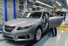 Stopp i Saabfabriken