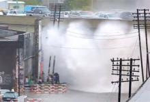 Biltvätt med tågvåg