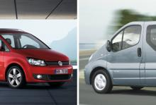 Volkswagen Touran TDI visar upp noll i felprocent. För Renault Trafic är den siffran 30,9 procent.