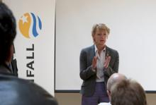 Ulla Hamilton, Stockholms trafik och miljöborgarråd, presenterade under måndagen planerna på en elbilsupphandling.