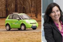 Marie Fossum, affärsutvecklingschef på Fortum, menar att bättre elbilar än Think City är på väg.