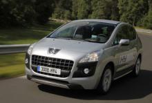 Peugeot 3008 hybrid - fyrhjulsdriven miljöbil som kommer 2011.