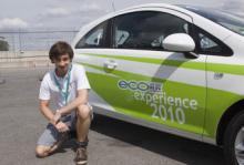 Jesper Forsberg, den svenske representanten i Opel Ecoflex Experience 2010.