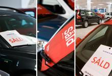 I bilhallen ges vart på vitt. Inbytesbilen ska värderas och mellanskillnaden räknas fram till det tilltänkta objektet. Värdeminskningen för en ny bil tär hårt på den privata bilekonomin.