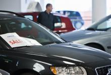 Spikrakt uppåt för bilhandeln
