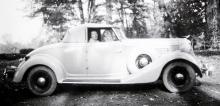 Auburn Cabriolet av 1935 års modell. En fin bil med stark motor och ett år kvar att leva.