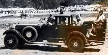Denna Maybach W5 SG levererades 1929 till kejsaren av Abessinien, Haile Selassie. Bilen var byggd för livvakter och ökenfärder, därav det märkliga karosseriet och de stora hjulen.