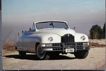 En Packard-cabriolet av 1948 års modell. Karossens grundform hade debuterat som Clipper redan 1940. Efter kriget gjorde man det bästa möjliga i form av en modernisering, som dock inte alla tyckte var så lyckad.