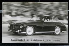 """""""Berlineta sport ligera PEGASO Z.102/2,5 S"""" kallade fabriken sitt fartvidunder på 250 hästkrafter, eller så. En tämligen fantasilös kaross med många slätstrukna ytor."""