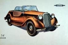 """Efterkrigstidens  första Nine Roadster  var enligt Singer byggd  med """"förkrigskvalitet"""",  vilket var en fjäder i hatten."""