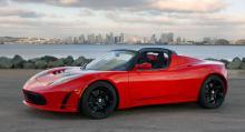 Tesla Roadster, med en prislapp på över en miljon kronor.