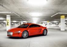 Audi e-tron, konceptbil från bilsalongen i Frankfurt 2009.