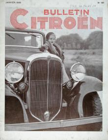 I Citroëns omfattande marknadsföring ingick också en påkostad kundtidning. I januari 1933 såg en Citroën-front ut så här.