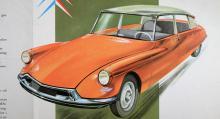Full fart på förarlös Padda – bilen som är så smart att den nästan kan köra sig själv… ID 19 kallades denna enklare version av DS. Hydropneumatisk fjädring gav enligt reklamen passagerarna en känsla av att flyga.