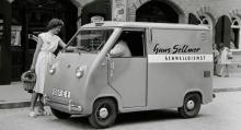 I det återuppväxande Tyskland behövdes transportfordon av alla slag. Från Glas lockade man med denna VW Transporter i miniatyr. 14 hästkrafter och 1,45 kubikmeter bagage. Bilen vägde tom 570 kilo.