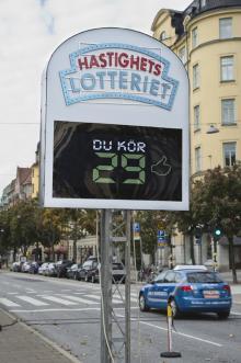 Hastighetselotteriet, ett initiativ från NTF och Volkswagen.