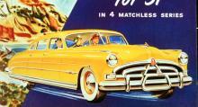 Full fart 51! Årets stora nyhet var Hornet-modellen med högkomprimerad sexa vars aluminiumtopplock bar det vackra namnet Miracle Dome. 145 hästar minsann. Detta blev den totalt överlägsna vinnaren i årets standardbilstävlingar, det vill säga det som på amerikanska heter stock car racing.