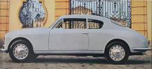 Aurelia GT 2500, märkets förnämliga sportcoupé från 1950-talet. V6-motor på 118 hästkrafter, självbärande kaross och goda prestanda.