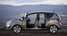 Opel Meriva, med bakhängda dörrar.