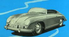 Speedster, en riktigt maffig liten bil, en halvracer med enkel utrustning av den sort som James Dean tävlade med, men det var i en Spyder han omkom.